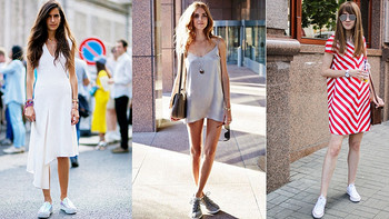 值鞋控VOL.68:裙子的绝配是高跟鞋?那你就out了!运动鞋才是时尚界的新宠~