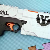 小萌娃滴玩具们 篇三:买不起死侍版,买个HASBOR 孩之宝 Nerf Rival E0005 克洛诺斯发射器