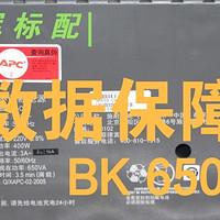 男人的生产力工具 篇三十八:群晖标配 数据保障—BK650-CH UPS