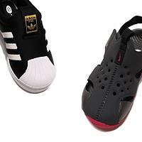 618为儿子新添的两双鞋—Adidas 阿迪达斯 黑贝 与 Nike 耐克 防水凉鞋