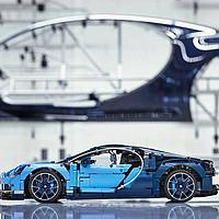 全手工打造的陆上暴君LEGO Technic Bugatti Chiron 42083
