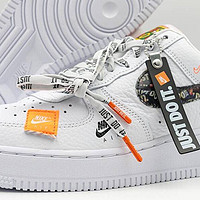 Air Force 1 Just Do It 白色细节图