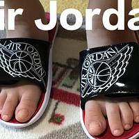 给儿子买的第N双鞋 篇四十四:NIKE 耐克 AIR JORDAN HYDRO 7 幼童拖鞋开箱