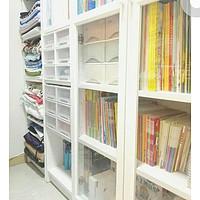 小户型收纳大法 篇二:我的2.7平米储藏间如何实现=洗衣间+手工工作室+书柜+储物