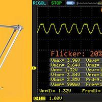 频闪?看波形——OSRAM 欧司朗 柏林卤素台灯 改造
