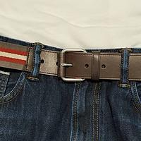 BALLY 巴利 男士织物配皮针扣式腰带 晒单