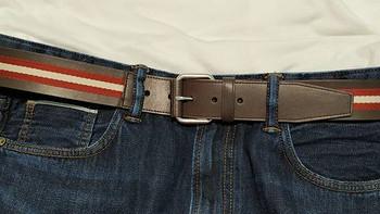 巴利 男士织物配皮针扣式腰带购买理由(价格|售后)