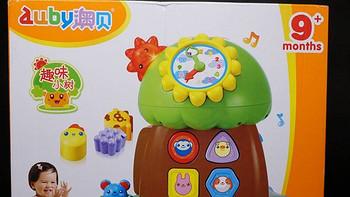 AUBY 澳貝 玩具趣味小樹嬰幼聲光積木珠算早教電子琴智慧樹 463425DS