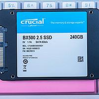 买MX500还是BX500? CRUCIAL 英睿达 240G入门级BX500固态硬盘评测&给妹子的三星笔记本升级