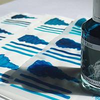 彩墨试色系列 篇十二:蓝色?绿色?傻傻分不清楚,诗人墨水诗色