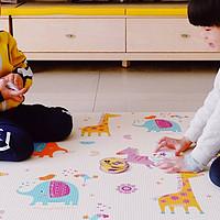 亲民价的PVC爬行垫:贝瓦韩国进口PVC儿童爬行垫使用体验