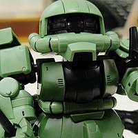 弥补童年缺少的遗憾 篇十九:万代 BB战士 SDCS 高达 绿扎古2 量产型 ZAKU