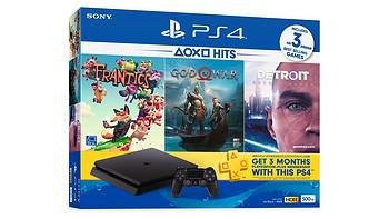 索尼 推出 PlayStation 4(PS4)HITS套装,含主机和《战神4》《底特律》等游戏