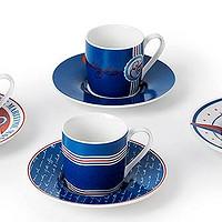 意式风情万种: 德国KOENITZ Espresso咖啡杯 阿玛菲杯 8件套
