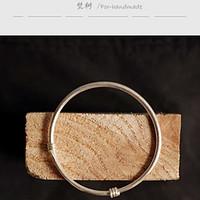 给媳妇的小礼物—梵树For handmade老式手工纯银手镯