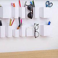 极简北欧范儿收纳利器Diy,让白墙也能有点个性:TUNAPAPER免打孔上墙纸质收纳盒