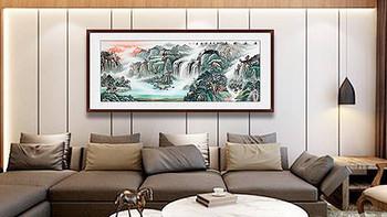 客厅沙发墙挂什么好 手绘国画装饰山水美丽更独特