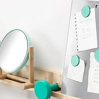 DIY超低成本宜家同款 可拆卸旋转化妆镜