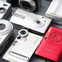 美能达、富士、佳能、索尼、松下、柯达、尼康等,古董傻瓜数码相机