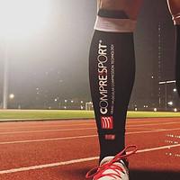 奔跑吧少年 篇五:来自瑞士的压缩跑步装备 COMPRESSPORT R2V2 压缩小腿套 & COMPRESSPORT 3D豆 跑步高帮袜 3.0