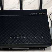 华硕RT-AC68U简单晒图,aimesh组网附送移动、固定测速