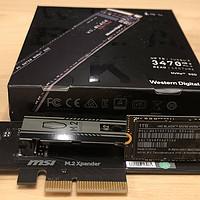 老平台也可以选M.2固态,WD Black SN750 NVMe SSD入手体验