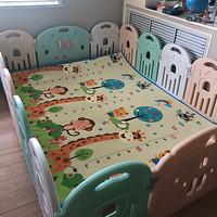 宝宝成长必备品之曼龙婴儿围栏、爬行垫