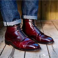 什么叫Shell Cordovan呢?马臀皮鞋子,牛仔裤和腰带能卖多少钱