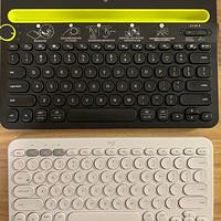 罗技无线蓝牙键盘k380与k480对比