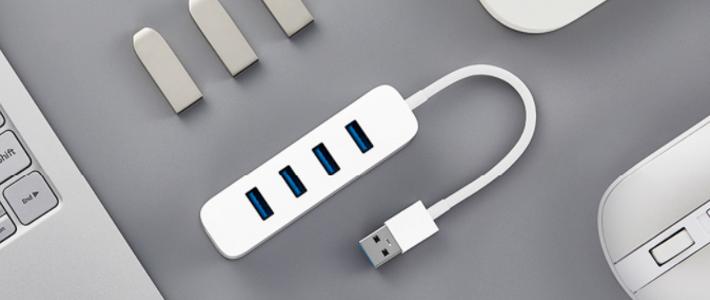 四口USB 3.0+USB-C:MI 小米 发布 USB 3.0分线器