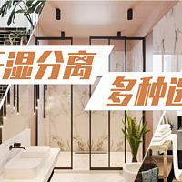 值乎 篇十:淋浴房、浴帘和隔断,干湿分离方法这么多,你家是哪种?