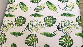 能看又能打的桌布—热带雨林风格小清新,防水防油免洗易打理(1.2×1.2米,花边设计)