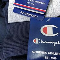 亚马逊入的Champion Powerblend 抓绒连帽卫衣