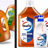 消毒液/衣物除菌液,各品牌浓度对比