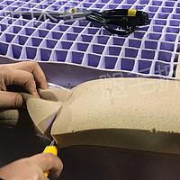 拆床垫 篇十三:拆火遍全美的骚紫色purple床垫,创新型材料的拉扯力和弹力可真香