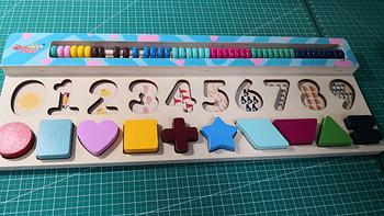 儿童数学启蒙,丹妮奇特木质数字/形状拼图板晒单