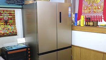 给父母买个大冰箱:美的 BCD505十字对开门冰箱