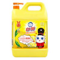 白猫柠檬红茶洗洁精有效去油去污不伤手无残留5kg厨房大瓶大容量