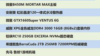 多核高性价比攒机方案:R5 3600+GTX1660S组装机配置推荐