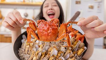 【视频】一家人就要齐齐整整! 1只蟹10只虾,30只蛏子30只花螺,超满足