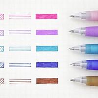 百乐、斑马、晨光彩色中性笔试色测评
