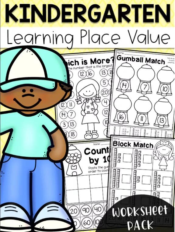【打印素材】美国幼儿园数学启蒙英文练习作业纸
