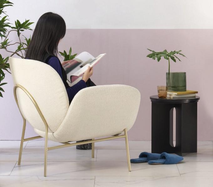 样子生活新品抱抱休闲椅:羊羔绒面料,蜂巢仿生设计,治愈力满分~