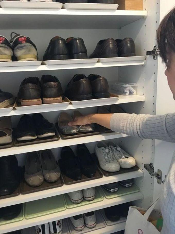 日本主妇就是强迫症,连玄关收纳都有套路!鞋柜放置百款鞋子、包包,空间居然还有剩