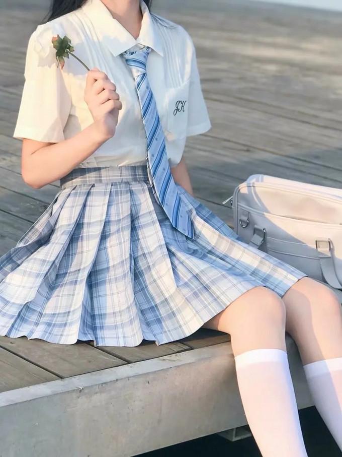 JK制服丨十款温柔甜美的浅色格裙安利来了~