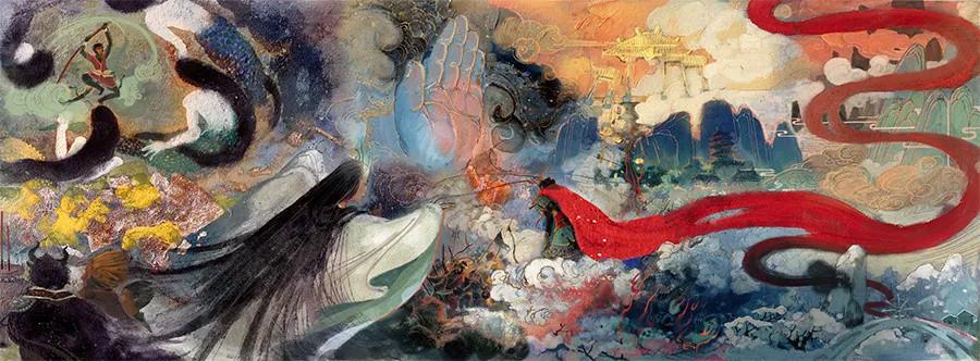 把岩彩玩到极致,让国潮艺术再放光彩!莲羊全新画集《岩语》闪耀问世!