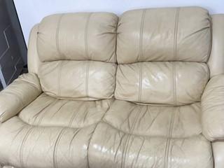芝华士的皮革双人位沙发