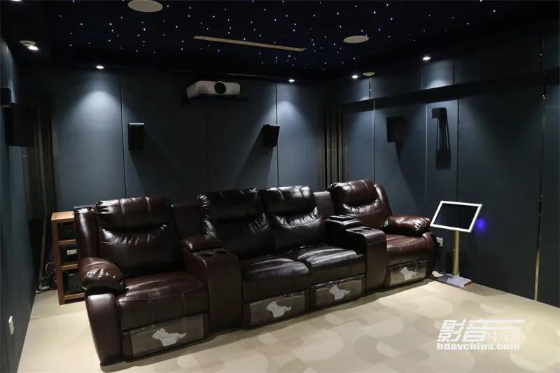 【家庭影院案例】武汉万科别墅地下室老影院:改动换面,器材+装修双升级
