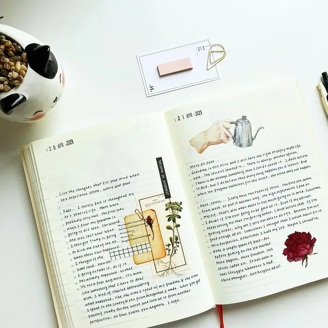 适合日记和读书笔记的手帐排版