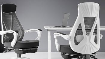 小米有品黑白调人体工学办公椅,加宽加厚头枕,160°大角度后仰,仅售699元
